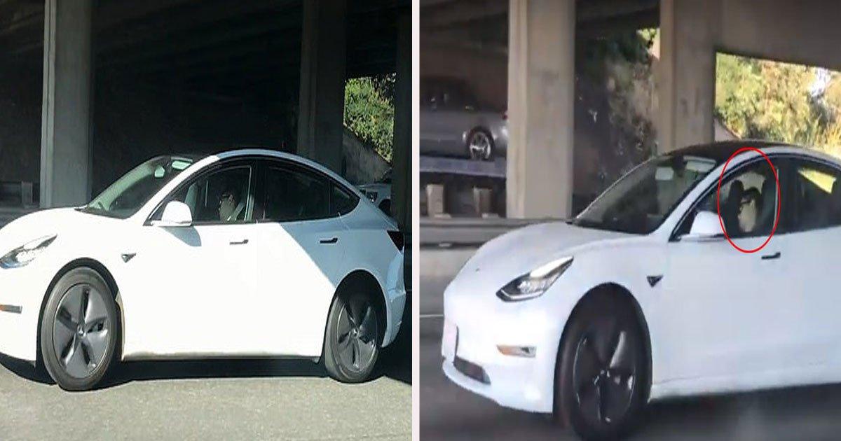 untitled 1 39.jpg?resize=300,169 - Un homme a été filmé endormi au volant de sa voiture automatique au milieu du traffic