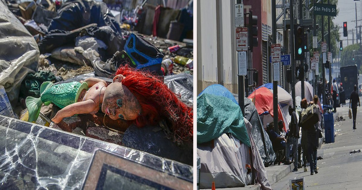 untitled 1.jpg?resize=1200,630 - Pictures From Downtown LA Show A Growing Trash Problem For Residents In The City