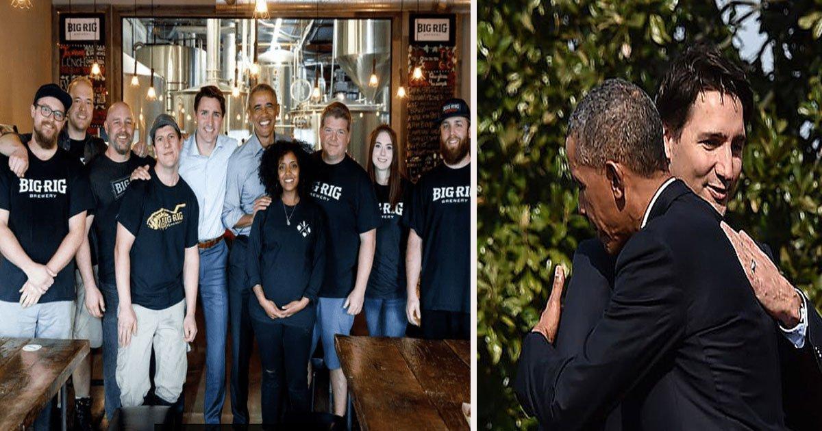 untitled 3.jpg?resize=412,232 - Barack Obama et Justin Trudeau se retrouvent dans une brasserie à Ottawa