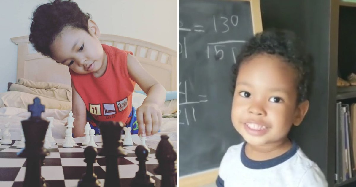untitled design 90.png?resize=412,232 - 3-Year-Old Genius Boy Shows Off His Math Skills While His Proud Mother Is Recording Him