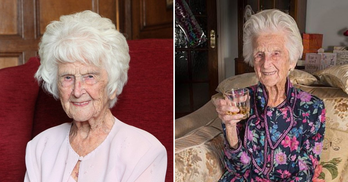 untitled design 98.png?resize=1200,630 - 112-Year-Old Woman Who Credited Whiskey For Her Long Life Passed Away After Long And Fulfilling Life