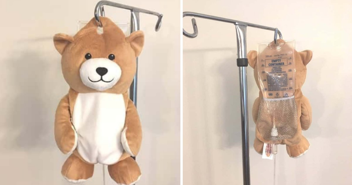 y2 14.png?resize=412,232 - A Girl Suffering With a Rare Disease Has Invented a Teddy Bear Which Hides IV Bags So That No Kid Gets Scared