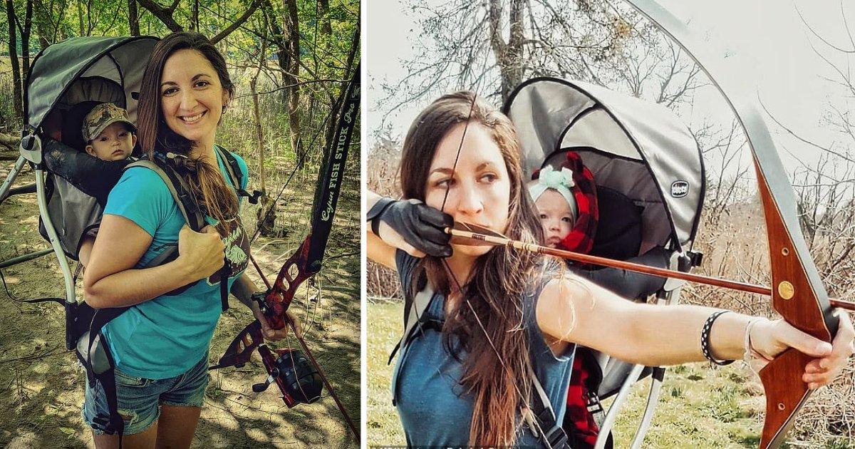 y3 2.png?resize=412,232 - Une mère chasseuse emmène sa fille de 9 mois chasser avec elle