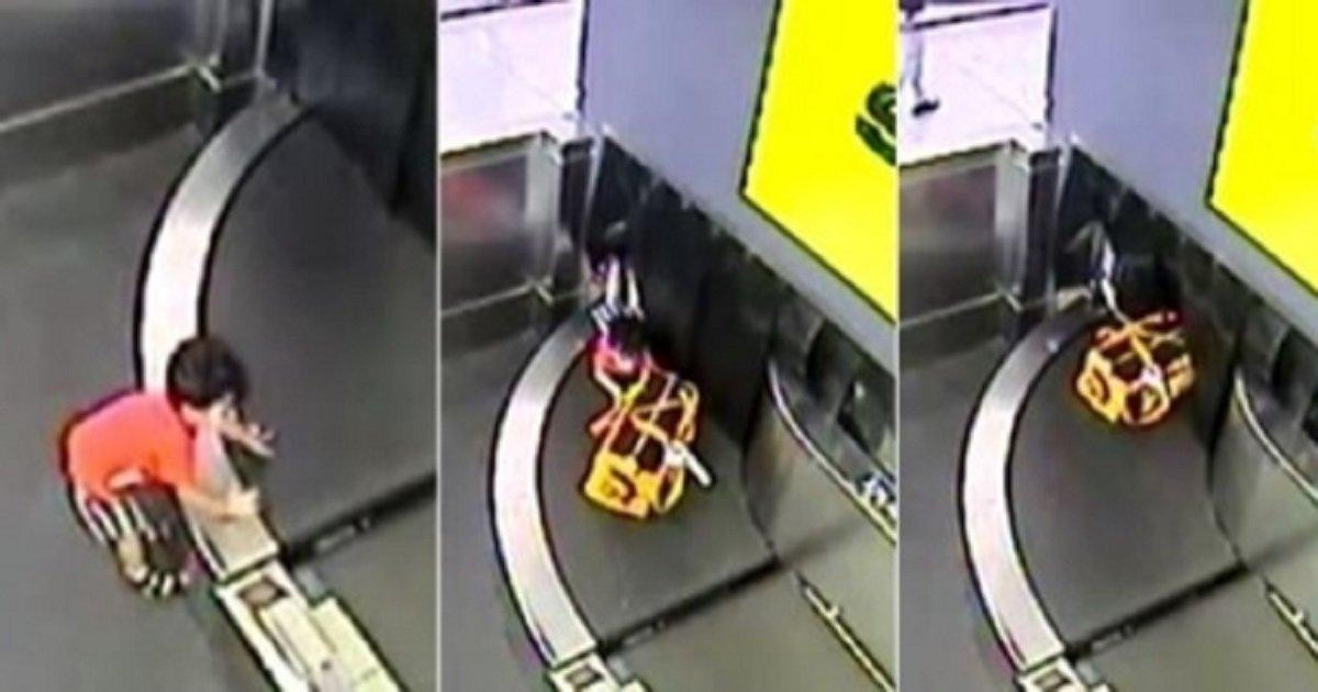 00000.jpg?resize=1200,630 - 【衝撃】目を離した隙に…2歳男児が荷物用のベルトコンベアに乗って消える?!
