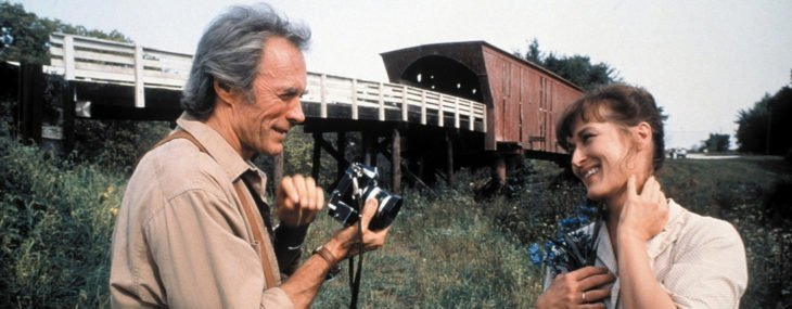 Clint Eastwood y Meryl Streep en la película los puentes de madison