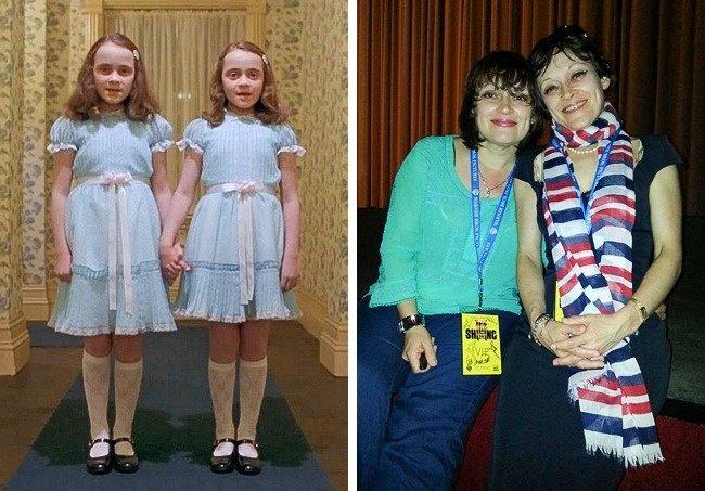 Pareja gemelas el resplandor Antes y después niños películas de terror