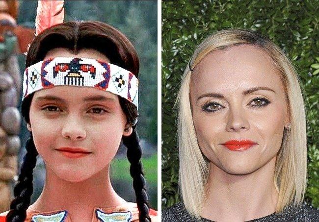 Locos Adams Merlina Antes y después niños películas de terror