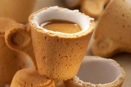Resultado de imagen de vaso de cafe comestible