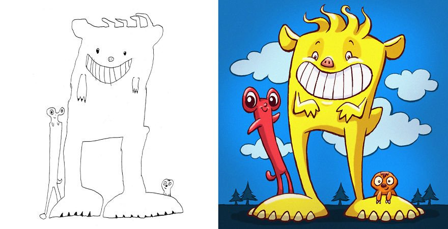 Artists From Around The World Have Drawn Hundreds Of Monsters Based On My Kids