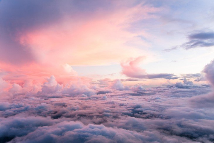 Nubes tomadas a 30 mil pies de altura