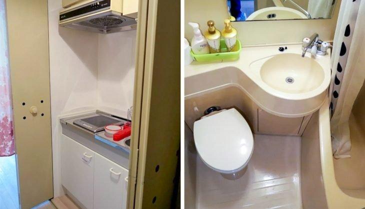 baño de apartamento en japón