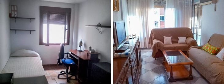 recámara apartamento español