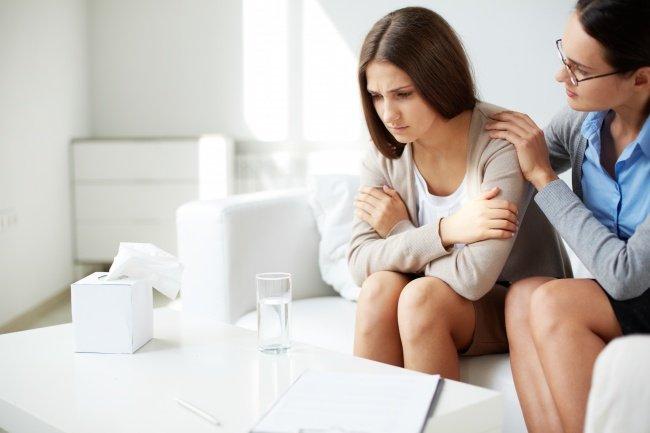 Chica triste terapia