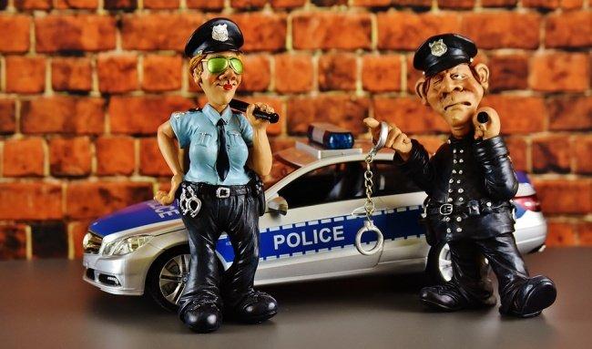 Policías muñecos figuras de acción