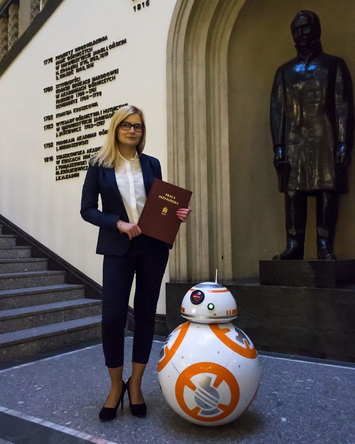 Student In My Country Made Mostly 3D Printed 1:1 Moveable Bb-8 Model As Her Engineer