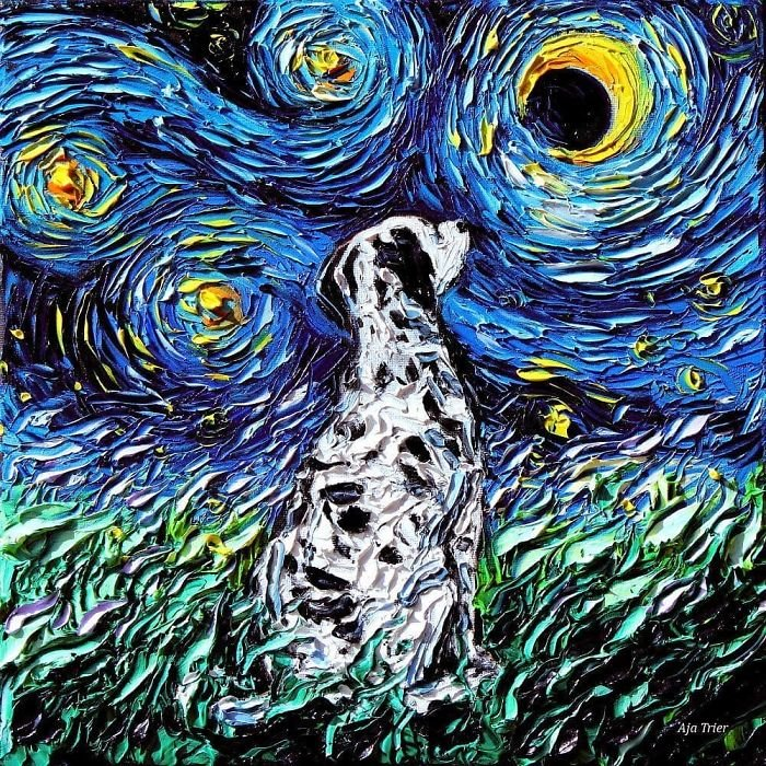 Van-Gogh-Starry-Night-Reimagined-Dogs-Paintings-Aja-Trier