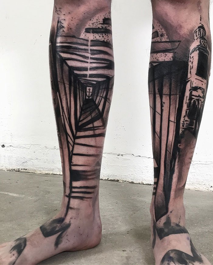 Amazing Abstract Art Tattoo