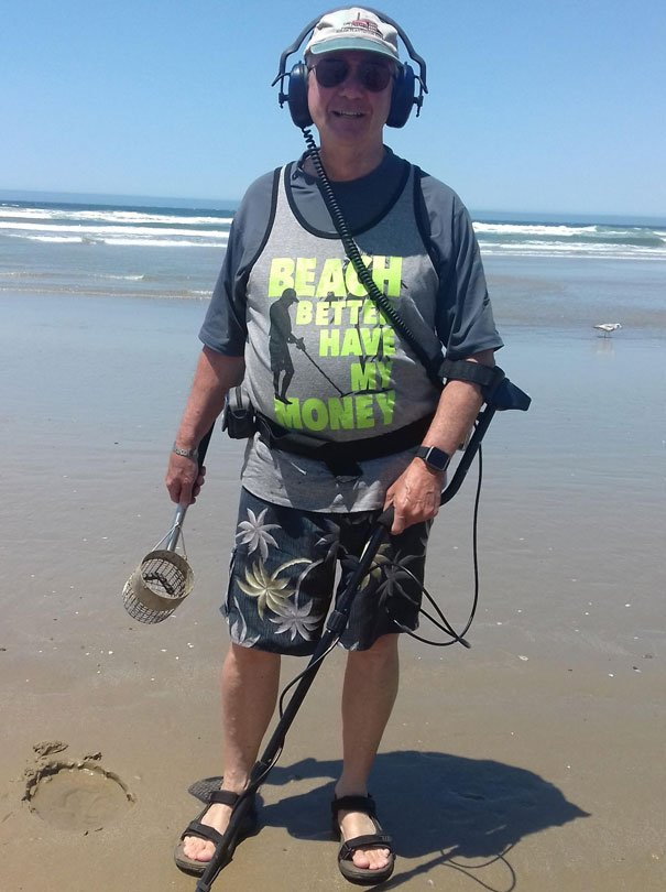 Saw This Guy On The Beach. He Said His Grandkids Bought Him This Shirt