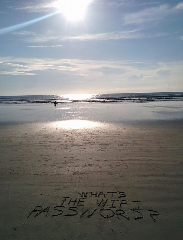 Saw This Inspirational Beach Message This Morning