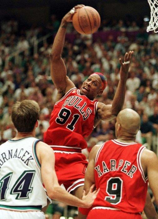Dennis Rodman el mejor en rebotes