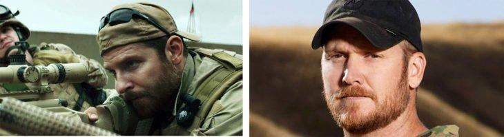 Francotirador Bradley Cooper y el verdadero