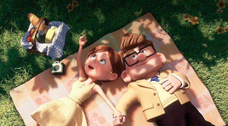 escena de Carl y Ellie en la película Up