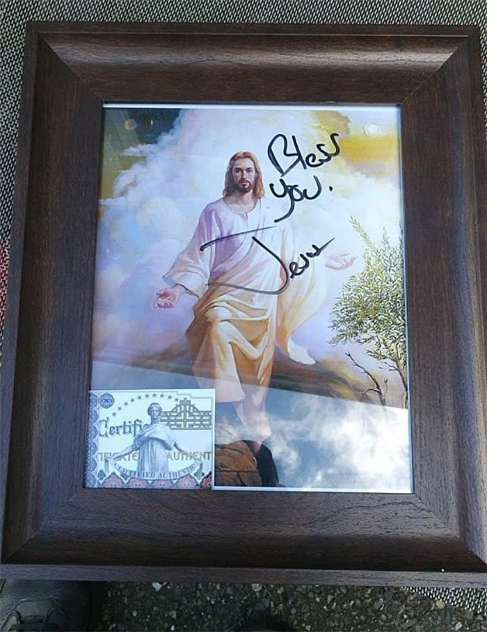 Best Find Ever, A Certified Authentic Autographed Jesus Picture