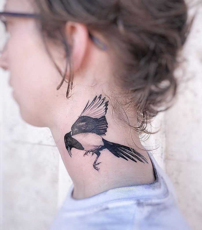 Magpie Neck Tattoo