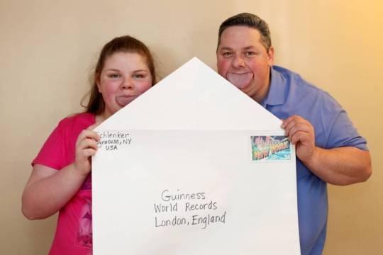 Byron Schlenker and Emily Schlenker hold the Guinness World Record for the World