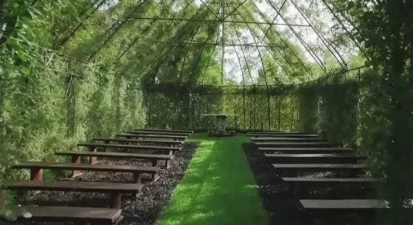Man builds a church out of trees