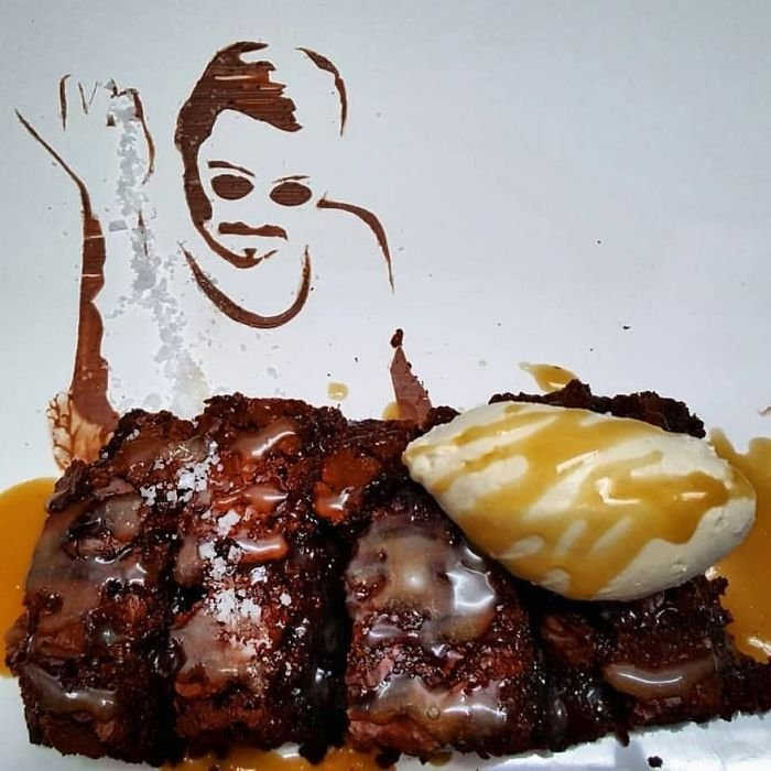 The Salted Bae Caramel Brownie, With Custom Stencil