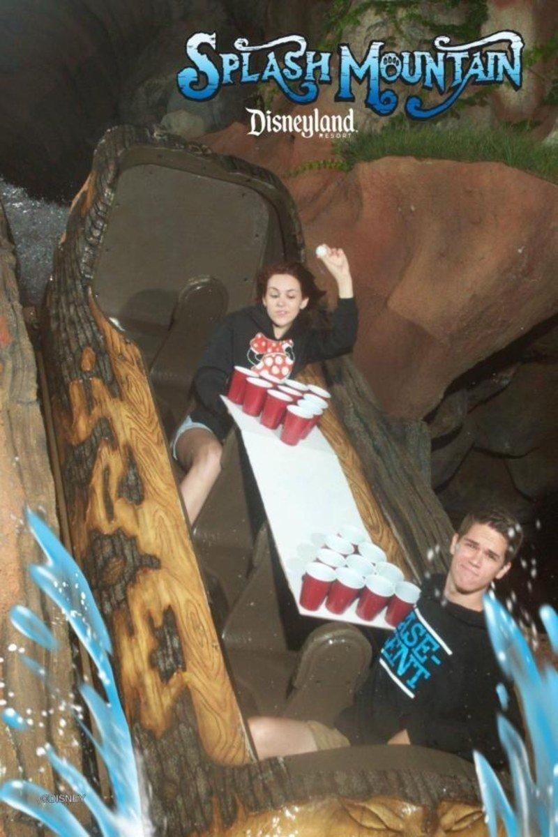 funny roller coaster photos beer pong
