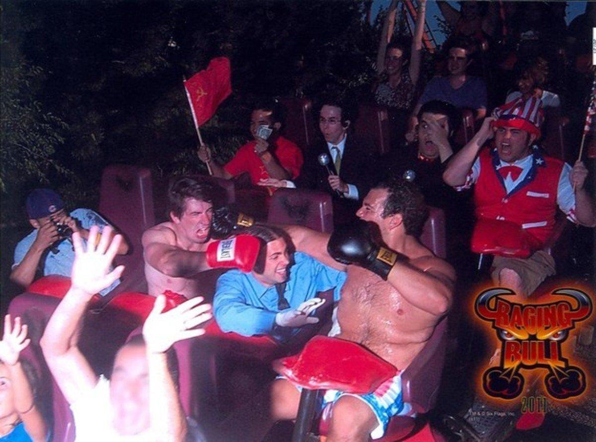 funny roller coaster photos boxing