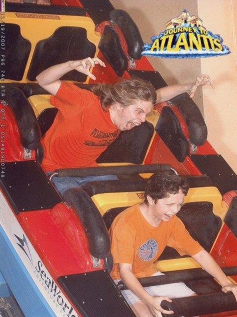 funny roller coaster photos brothers