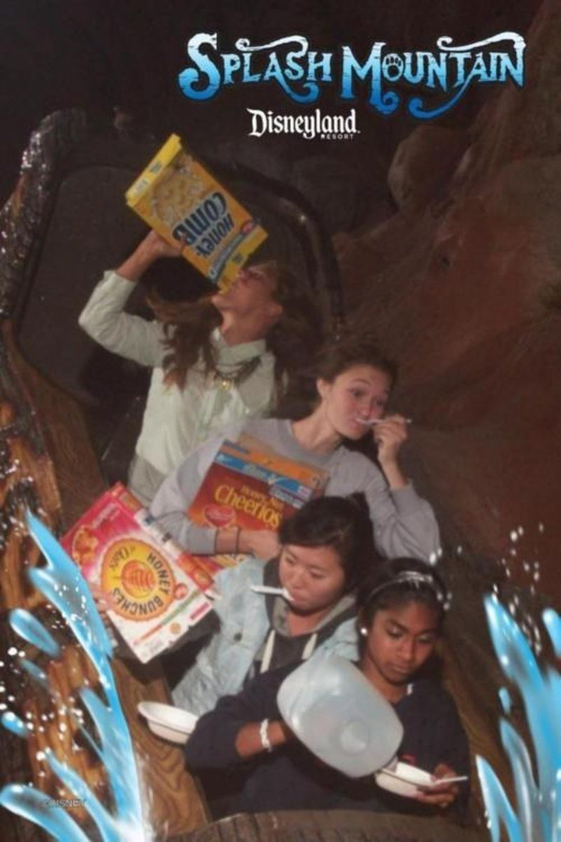 funny roller coaster photos cereal