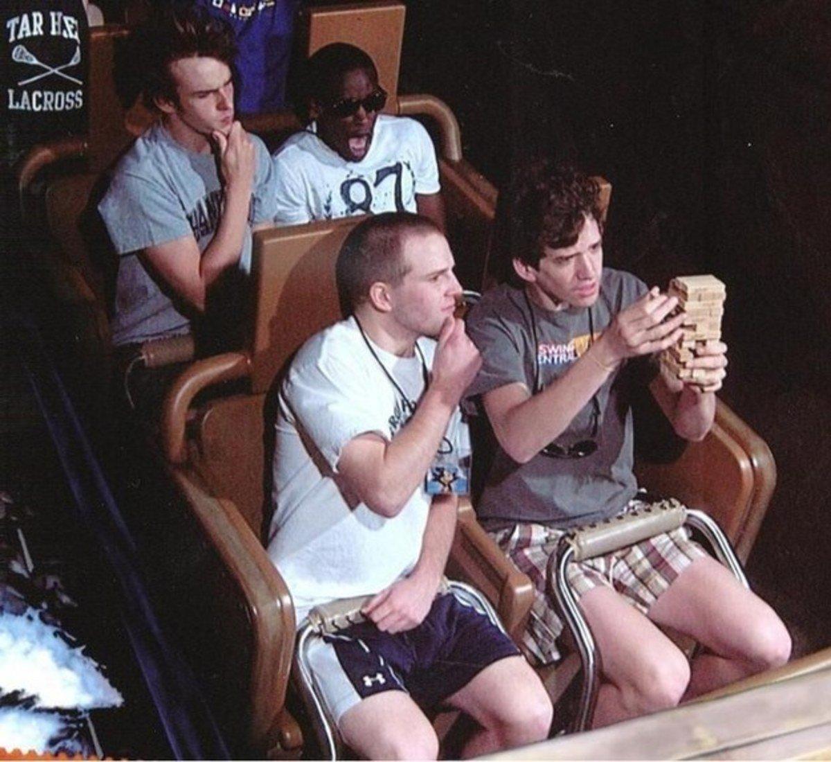 funny roller coaster photos jenga