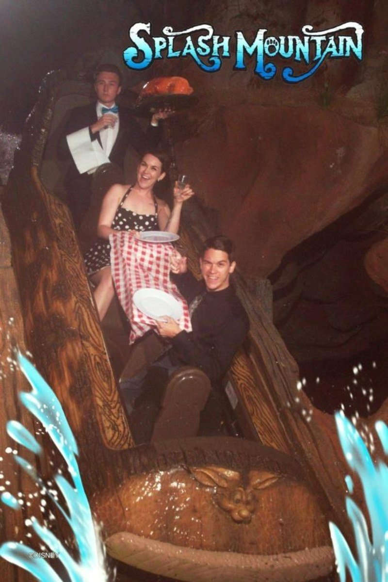 funny roller coaster photos night out