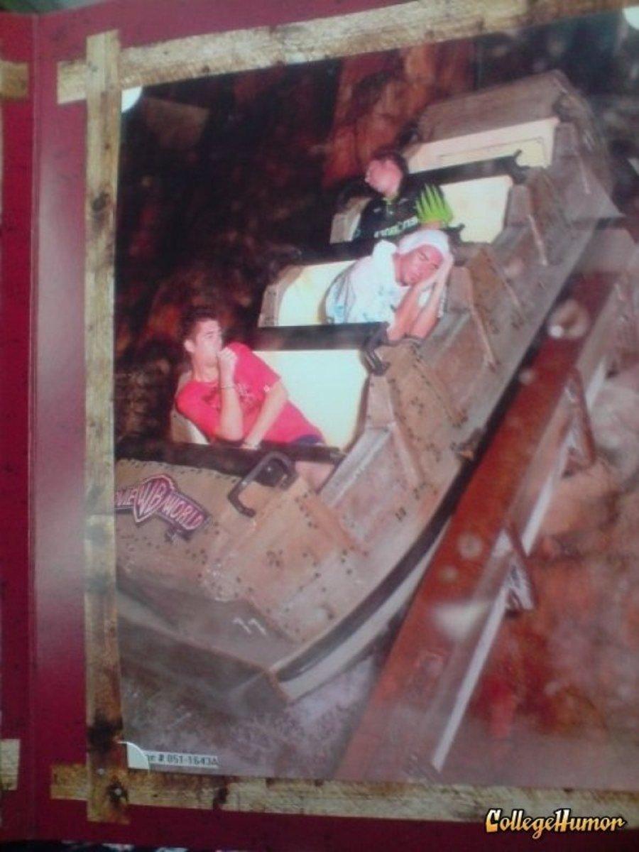 funny roller coaster photos sleepy