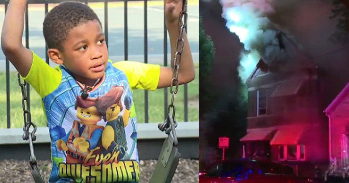 a 5 year old boy warned people to get out of burning home and saved lives of 13 people.jpg?resize=1200,630 - Un garçon de 5 ans a sauvé 13 personnes d'une maison en feu