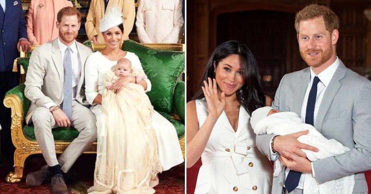archie5.png?resize=412,232 - Harry et Meghan se sentent chanceux d'avoir baptisé leur fils lors d'une cérémonie privée et ils ont partagé des photos du grand jour