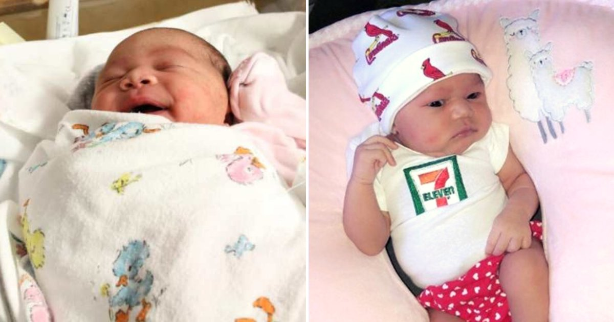 baby4.png?resize=1200,630 - Baby Born On July 11 At 7:11 PM Weighing 7 Lbs. 11 Oz Receives Incredible Gift From 7-Eleven