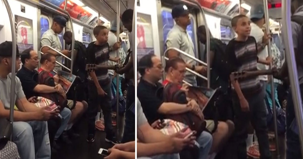 boy sam smith.jpg?resize=1200,630 - Un garçon fait une reprise de Sam Smith dans le métro de New York