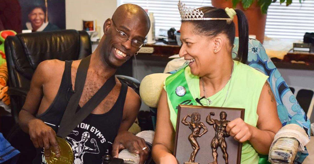 cerebral palsy couple bodybuilder.jpg?resize=412,232 - Couple With Cerebral Palsy Are Now Champion Bodybuilders