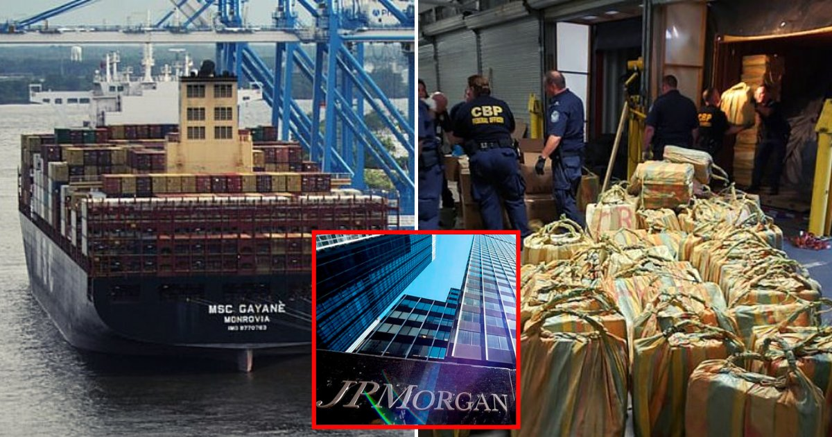 cocaine5.png?resize=1200,630 - Cargo Ship Owned By JP Morgan Seized With Cocaine Worth More Than $1 Billion On Board