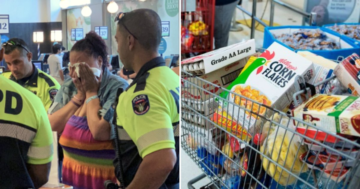 cops3.png?resize=1200,630 - Shoplifting Woman Bursts Into Tears When Cops Decided To Pay For Her Groceries
