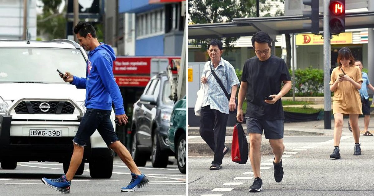 crossing5.png?resize=412,232 - Pedestrians Caught Crossing The Street While Looking At Their Mobile Phones Could Potentially Face Hefty Fines