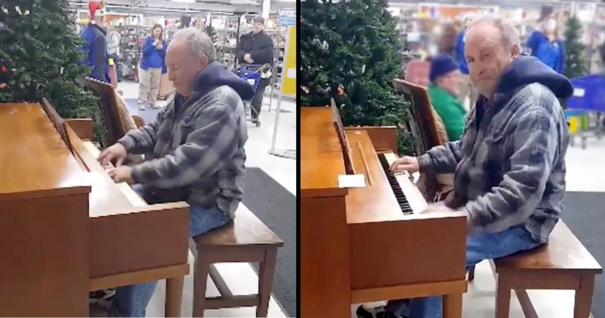 d3 6.png?resize=412,232 - An Elderly Man Starts Playing Piano In A Store Leaving Shoppers Speechless