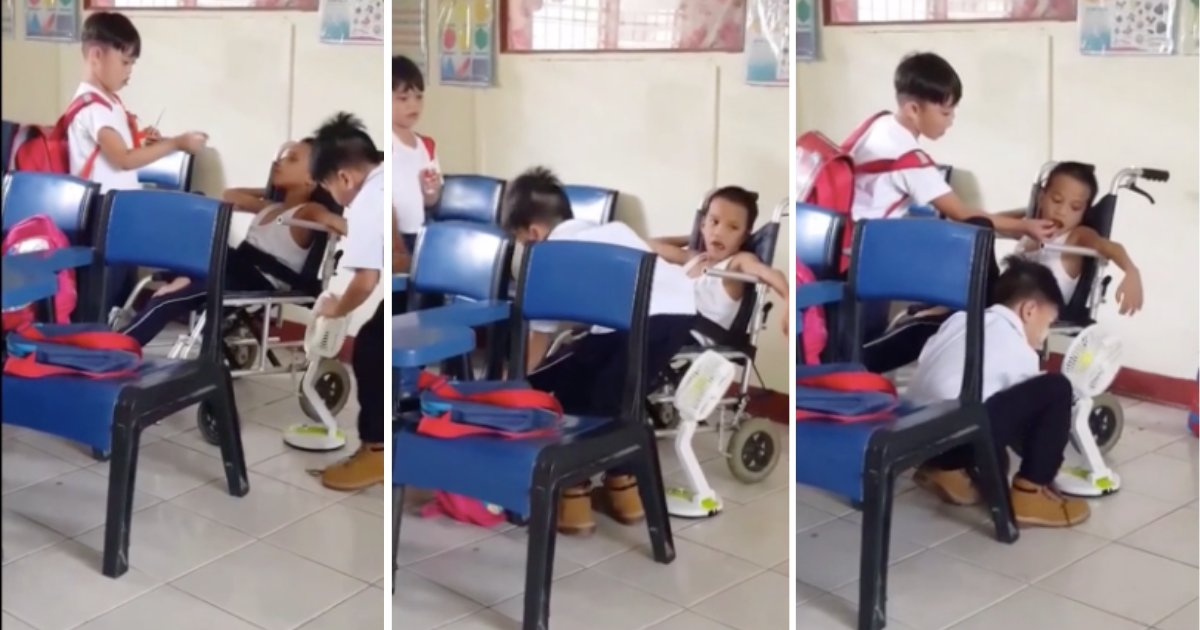 d4 15.png?resize=1200,630 - Two School Mates Help Their Classmate Who Is Suffering from Cerebral Palsy