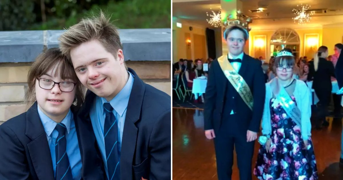 dylan5.png?resize=412,232 - Sweethearts Both With Down Syndrome Were Crowned Prom Queen And King