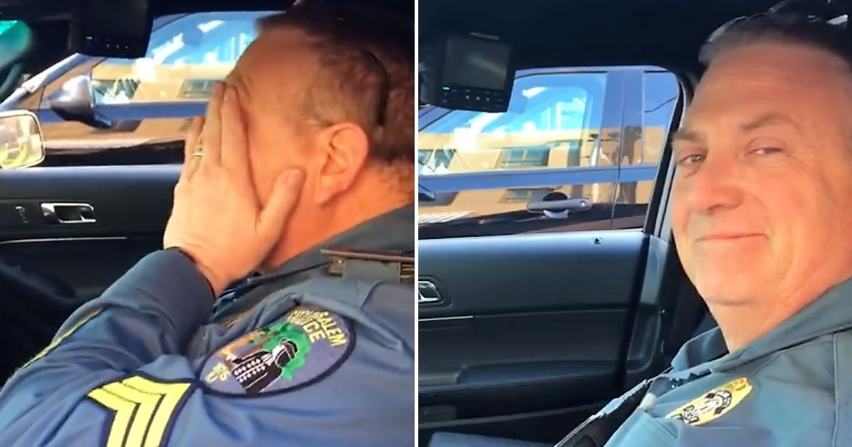 emotional sign off.jpg?resize=412,232 - Retiring Officer's Emotional Sign-Off After 28 Years Of Public Service As He Received A Special Message From His Son